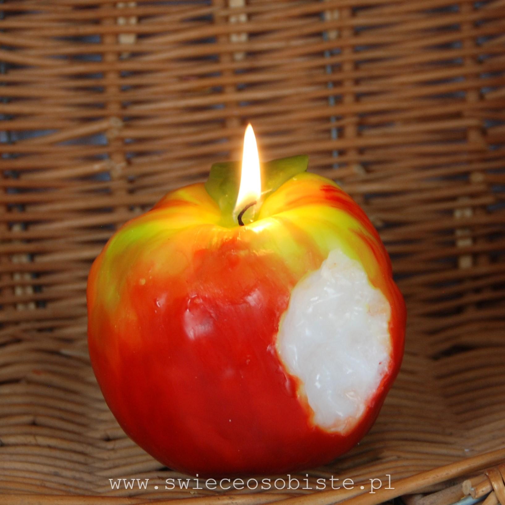 świeca jabłko warsztaty świecowe