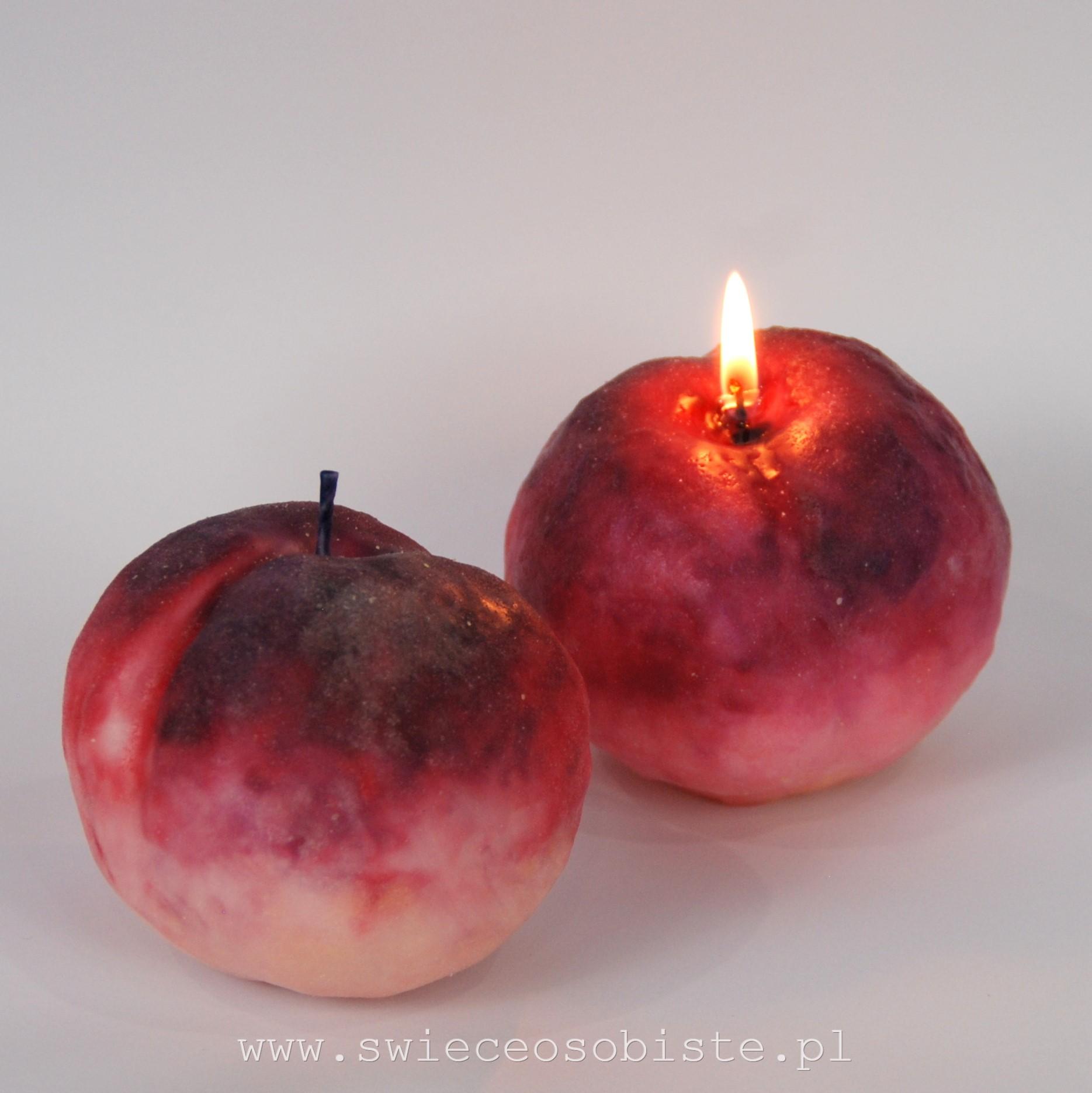 świece brzoskwinie