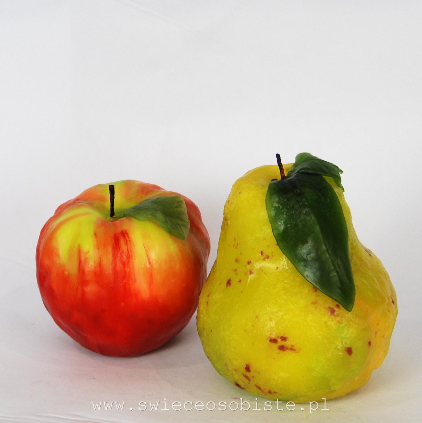 świece owoce jabłko guszka