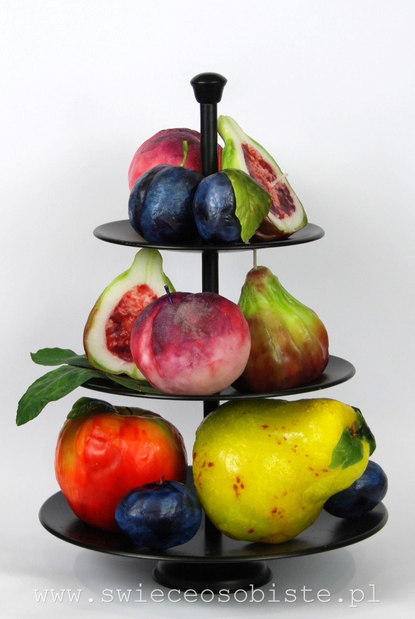 świece owoce